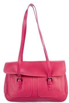 Longchamp Grained Leather Shoulder Bag