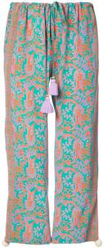 Figue Goa paisley-print cropped drawstring trousers