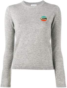 Bella Freud lion intarsia top