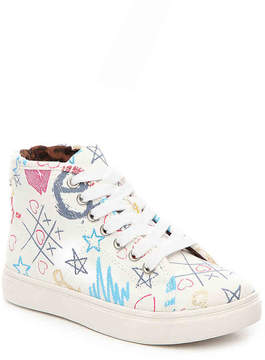 Steve Madden Girls Scribble Youth High-Top Sneaker