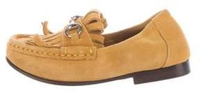 Gucci Boys' Horsebit Kiltie Loafers