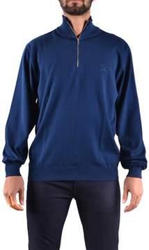 Paul & Shark Men's Blue Cotton Sweater.
