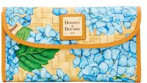 Dooney & Bourke Hydrangea Basketweave Continental Clutch Wallet - SKY BLUE - STYLE