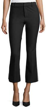 Derek Lam 10 Crosby Cropped Flare Trousers w/ Tuxedo Piping