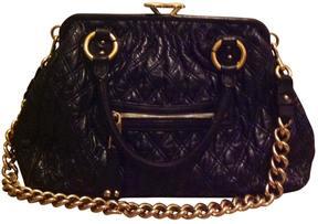 Marc Jacobs Blue Leather Handbag Stam - BLUE - STYLE