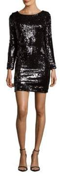 Dress the Population Lola Roundneck Textured Dress