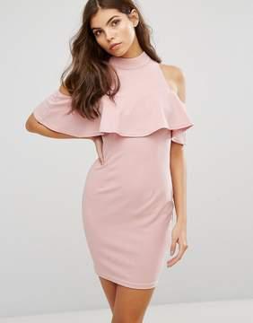 AX Paris Cold Shoulder High Neck Mini Dress
