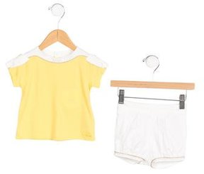 Chloé Girls' Bow-Accented Shorts Set w/ Tags