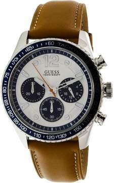 GUESS Men's U0970G1 Brown Leather Quartz Fashion Watch