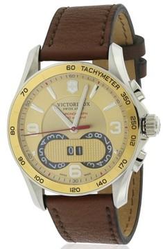 Victorinox Chronograph Leather Mens Watch 241617