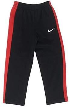 Nike Boys Core Fleece Athletic Swoosh Sweatpant 862107 (4, Black/Gym Red)