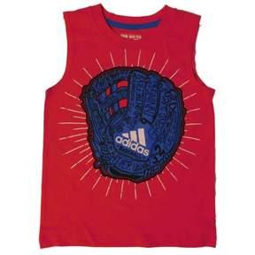 adidas Boys Red/Blue Baseball Glove Tank Top Sleeveless Shirt