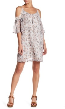 Soprano Lace Cold Shoulder Shift Dress