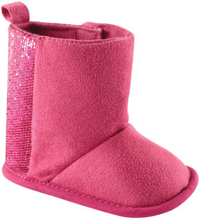 Luvable Friends Pink Sparkle Booties - Girls