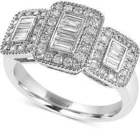 Effy Diamond Baguette Cluster Ring (5/8 ct. t.w.) in 14k White Gold