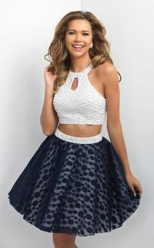 Blush Lingerie Two-Piece Beaded and Printed A-line Dress 11184