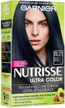 Garnier Nutrisse Ultra Color Nourishing Color Creme Permanent Haircolor Reflective Blue Black 21