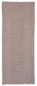 Max Mara Women's Crocodile Print Wool & Modal Scarf