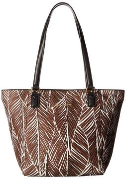 Vera Bradley Small Ella Tote Tote Handbags - BANANA LEAVES BROWN - STYLE