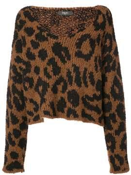 Amiri leopard knitted top
