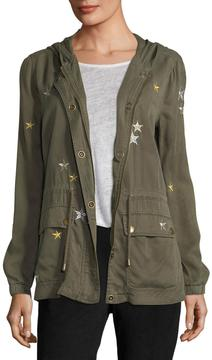 Bagatelle Star-Embroidered Twill Anorak Jacket
