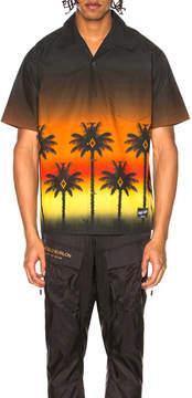 Marcelo Burlon County of Milan Red Palm Shirt