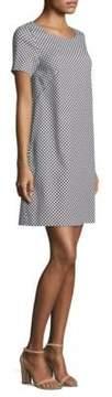 Peserico Short-Sleeve Polka Dot Dress