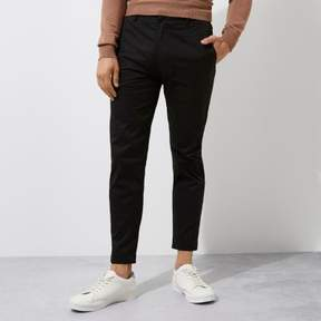 River Island Mens Black slim fit ankle grazer chino pants