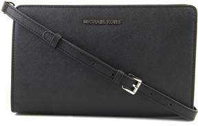Michael Kors Large Jet Set Crossbody Clutch- Black - BLACK - STYLE