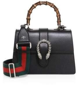 Gucci Medium Dionysus Leather Top-Handle Bag - BLACK - STYLE