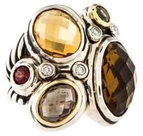 David Yurman Two-Tone Multistone Mosaic Ring