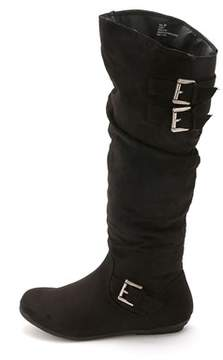 Rampage Womens Cyrene Fabric Round Toe Knee High Fashion Boots.