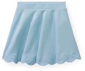 Ralph Lauren | Scalloped Ponte Pull-On Skirt | 6 years | Elite blue