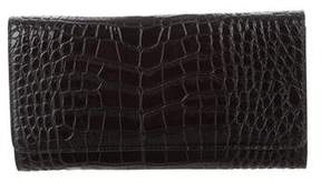 Max Mara Embossed Leather Clutch