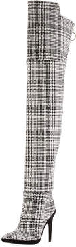 Off-White Off White Tartan Plaid Over-the-Knee Boot
