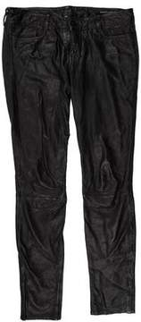 AllSaints Leather Low-Rise Pants