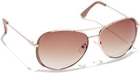 New York & Co. Colored-Rim Aviator Sunglasses