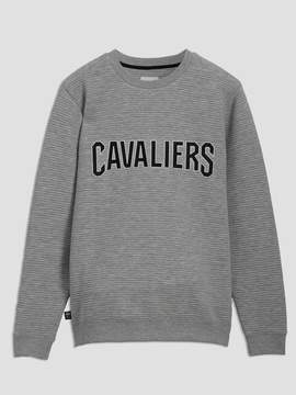 Frank and Oak Cleveland Cavaliers Ottoman-Knit Crewneck in Grey