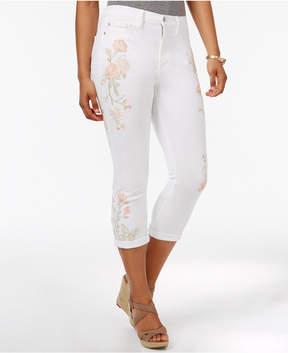 Buffalo David Bitton Ivy Embroidered Skinny Capri Jeans
