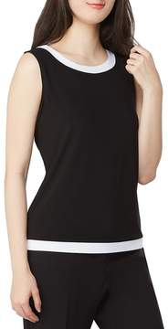 Allison Daley Petites Wide Crew-Neck Banded Tank