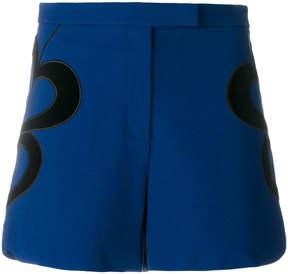 Elie Saab velvet trim heart shorts