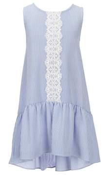 Bonnie Jean Little Girls 2T-6X Pinstripe Hi-Low Dress