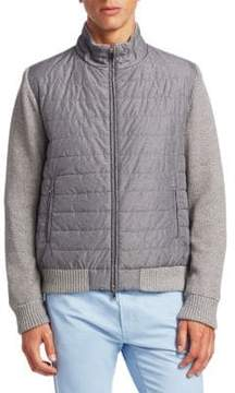 Saks Fifth Avenue COLLECTION Mixed Media Cotton Jacket
