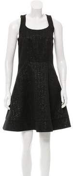ICB Cutout Metallic-Effect Dress