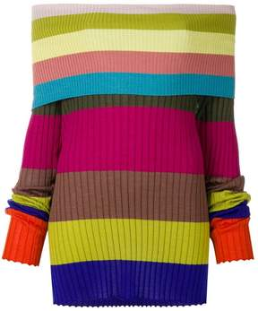 Antonio Marras off shoulder striped top