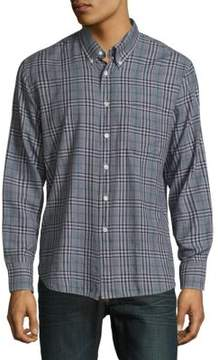 Billy Reid Plaid Button-Up