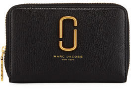 Marc Jacobs Double J Small Zip Wallet - BLACK - STYLE