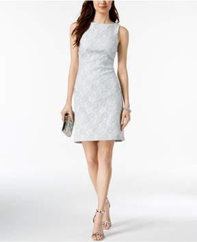 Donna Ricco Metallic Jacquard Sheath Dress
