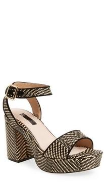 Topshop Women's Love Woven Platform Sandal