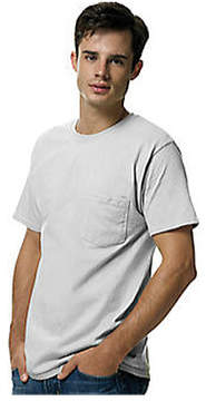 Hanes Men's Tagless 6.1 Short Sleeve With Pocket (Set of 3)